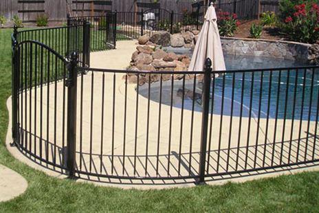 Minneapolis Wrought Iron Pool Fence